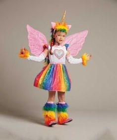 A colorful girls costume like this is a rare treat. This Pegasus is filled with…