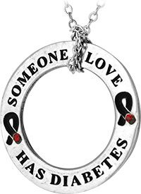 Someone I Love Has Diabetes Hoop Necklace