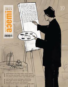 Acemi edebiyat dergisi kapak illüstrasyonu sayı-19
