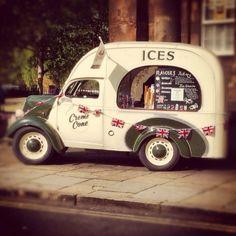 Ice cream van in York