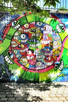 El pez - street art - Paris 20 - parc de belleville