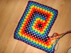 Never Ending Granny Square Afghan with tutorial