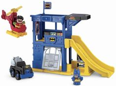 Amazon.com: Fisher-Price Little People DC Super Friends Batcave Playset: Toys & Games