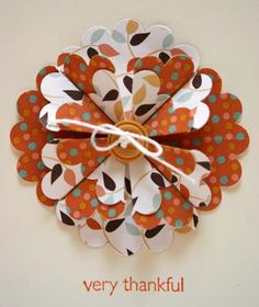 Some Thanksgiving cards made using the Stampin' Up scallop punch and retired Autumn Vine paper. The turkey was an idea from the SU ...