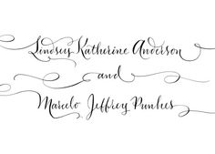Hand Calligraphy for Couples Names