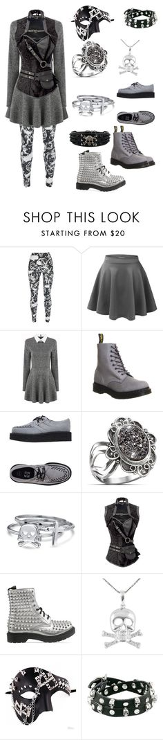 """""""Outfit 363"""" by creaturefeaturerules ❤ liked on Polyvore featuring LE3NO, Dr. Martens, T.U.K., The Bradford Exchange, Bling Jewelry, Jewel Exclusive, Masquerade and Gypsy SOULE"""