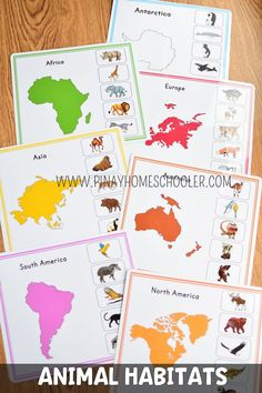 this is a nienhuis inspired montessori geography material