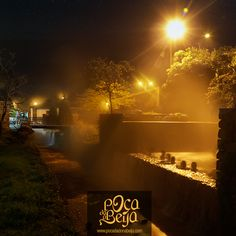 Poça da Dona Beija à noite #thermal #azores #pool #night #furnas #portugal