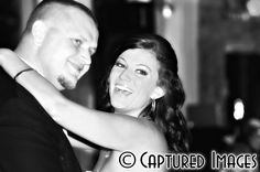Bride laughing during the 1st dance with her husband