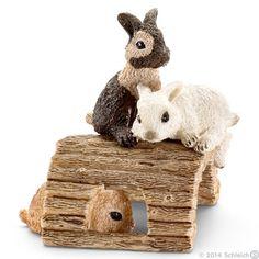 Schleich Toys | Farm World | Baby rabbits, playing | 13748