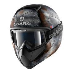 cool SHARK Motorradhelm Hark Vancore Flare Mat, Schwarz/Orange, Größe M