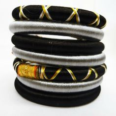 """Multicolor Silk Thread Bangles Set Of 7 Pcs Fashion Women Jewelry India Party Wear Bracelet Sz 2*2 IBA. $21.99. SIZE - 2*2, (2.1"""" Inches in diameter); COLOR - Multicolor;. SALE FOR - 7 Pcs; MATERIAL - Acrylic And Silk Thread;. ATB18. Multicolour Bangles Set Of 7 Silk Thread Fashion Women Indian Jewelry Party Wear Bracelet 2*2"""""""