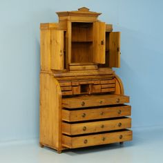Antique Pine Secretaire with Hidden Compartment, Denmark, circa 1840 | From a unique collection of antique and modern secretaires at https://www.1stdibs.com/furniture/storage-case-pieces/secretaires/