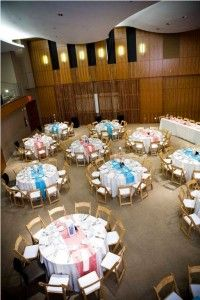 coral and teal table runners