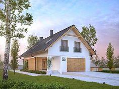 Amarylis 5 projekt domu - Jesteśmy AUTOREM - DOMY w Stylu Home Fashion, House Plans, Outdoor Structures, Cabin, House Styles, Home Decor, House 2, Plants, Decoration Home