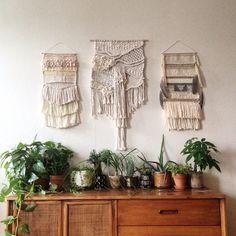 Triptych woven art