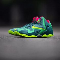 promo code cd373 f718d Nike LeBron 11 GS - Green - Pink - Volt - SneakerNews.com