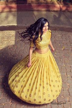 Yellow Heavy Lehenga Set - waliajoness New designer Mishru now on…