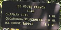 Icehouse Canyon Trail @ Baldy.  Abandoned cabins galore.  #ruins  Do the out and back IceHouse Cyn Trail  OR Climb Chapman Trail through the Cedar Glen campground and descend the IceHouse Cyn Trail for a Loop.