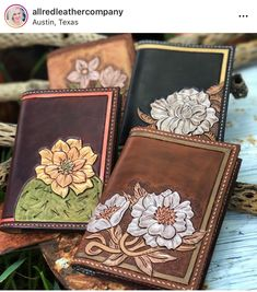 Leather Carving, Leather Art, Leather Gifts, Painting Leather, Leather Bags Handmade, Custom Leather, Leather Design, Leather Tooling, Tooled Leather