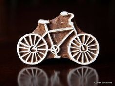 Pottery Stamps, Indian Wood Stamp, Textile Stamp, Wood Blocks, Tjaps, Printing Stamp- Bicycle