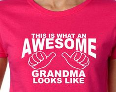 Gifts for Grandma T Shirt AWESOME GRANDMA Grandparent Gifts for Grandma Baby Reveal Mothers Day Christmas Gift Personalized Grandma Gifts