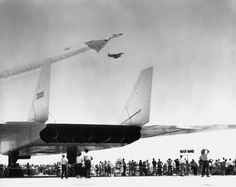 Phoenix Aviation Research: A rare image of the only air show that the XB-70s ever attended. One at Carswell AFB in the 1960s