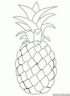 Printable Pineapple Coloring Page Free PDF Download At