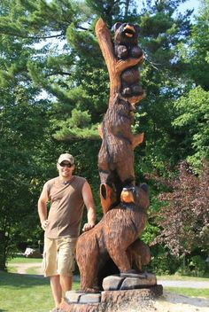 Massive chainsaw carving.