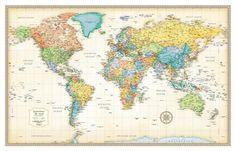 Amazon cavallini co world map decorative wrapping paper rand mcnally laminated classic world map gumiabroncs Choice Image