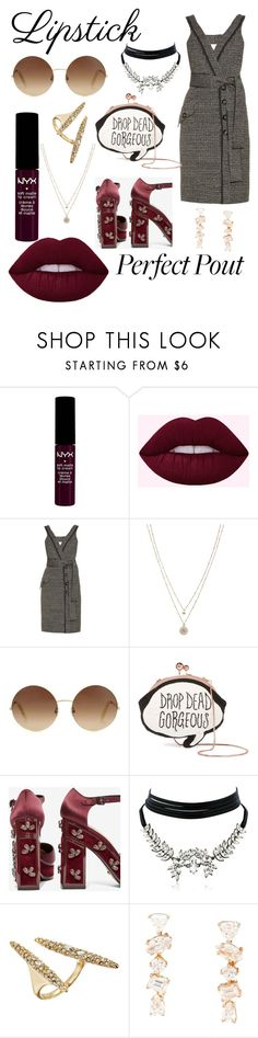 """Untitled #1599"" by filipaloves ❤ liked on Polyvore featuring NYX, Lime Crime, Proenza Schouler, LC Lauren Conrad, Victoria Beckham, Sophia Webster, Kat Maconie, WithChic, Alexis Bittar and Kimberly McDonald"