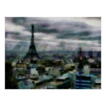 View Over Paris Poster