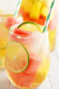Summer Sangria with Watermelon and Pineapple - Recipes Instant