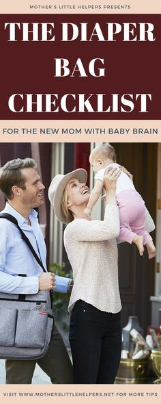 """Rest your mind at ease by using """"The Diaper Bag Checklist for the New Mom with Baby Brain"""" so that you and your baby never leave the house unprepared! Diaper Bag Checklist, Diaper Bag Essentials, Diaper Bag Organization, Diaper Bag Backpack, Diaper Bags, Free Baby Stuff, Babies Stuff, Maternity Tops, Mom Blogs"""