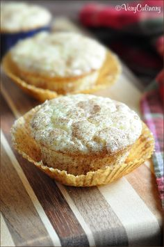 A delicious and tender muffin that tastes like a snickerdoodle cookie, perfect for breakfast or dessert!