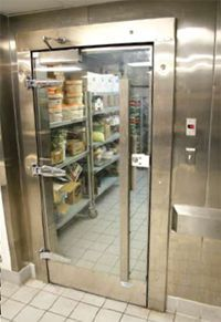Restaurant Kitchen Door Hinges 3 door commercial reach in glass front merchandiser refrigerator