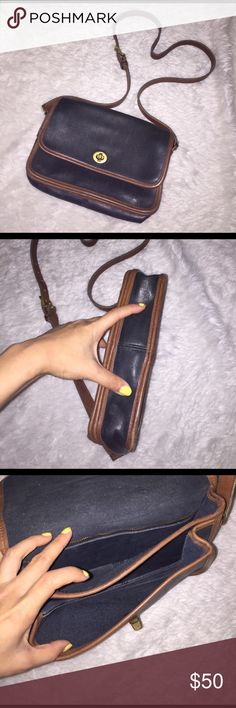 Real genuine leather bag Size of a Harry Potter book , premium leather bag, long adjustable strap, had this bag for awhile and is in perfect condition. You can feel the quality no scratches a tiny bit of wear . Color is coffee brown with dark deep brown almost black Bags Crossbody Bags