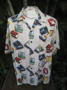 68ce71021 Hawaiian Shirt Medium Design: Matchbooks, match covers, matches in vintage  1940s and 1950s