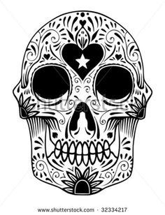 stock-vector-ornate-sugar-skull-vector-32334217.jpg 360×470 pixels