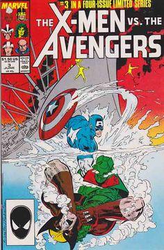 X-Men vs The Avengers #3 1987 / Cover Art By Marc Silvestri