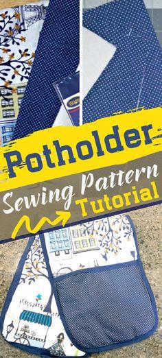 Potholder Sewing Pattern — CraftBits.com #freesewingpattern
