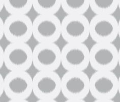 dove circle ikat fabric by domesticate for sale on Spoonflower - custom fabric, wallpaper and wall decals