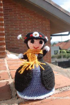 Mary Poppins topsy turvy doll / Mary Poppins muñeca transformable Amigurumi crochet pattern / Patrón de amigurumi de ganchillo