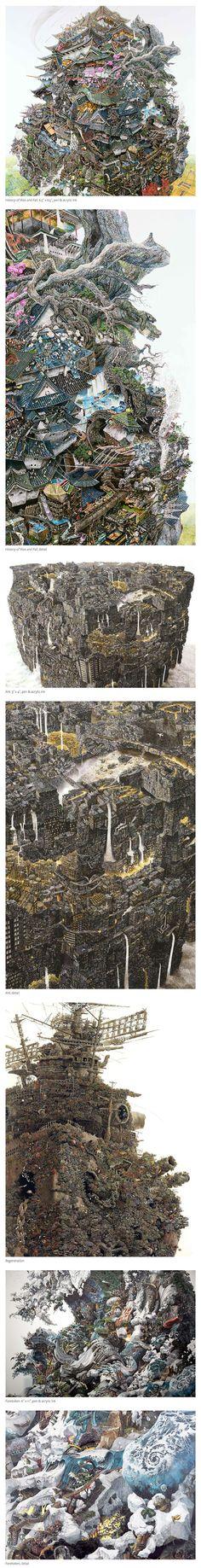 The monumental drawings of Ikeda Manabu :: http://mizuma-art.co.jp/artist/0030/index_e.php