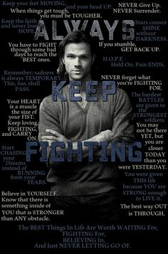 jared padalecki ALWAYS KEEP FIGHTING - Google Search