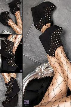eBay | >> Remaches Wedge CUÑAS talones de la plataforma Mujeres Zapatos Botas Tobillo Bombas 35-41