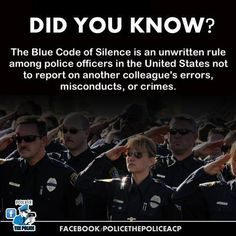 the blue code of silence