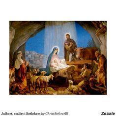 Christma short, the stable in Betlehem Postcard Christmas Nativity, Christmas Bells, Christmas Card Holders, Christmas Holidays, Christmas Wreaths, Christmas Crafts, Relief Society Activities, Star Of Bethlehem, Sunday School Crafts