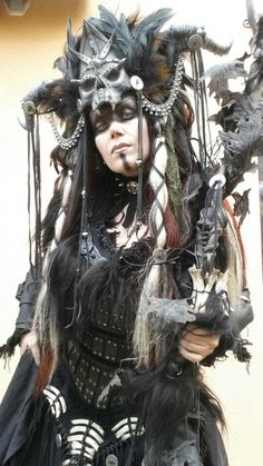 My new Necromancer Outfit - selfmade #Cosplay #Necromancer #Shaman #Costume
