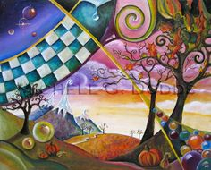 Four Seasons Fall Painting, Michele Dodds